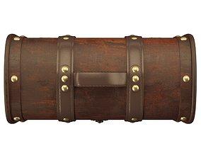 3D model Baron Decorative Storage Trunk Wood Box