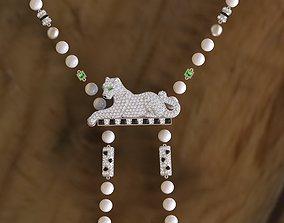 pendant 3D print model cougar