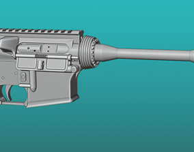 3D Colt M4 Carbine with full internals