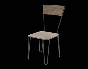 Chair wooden 11 3D model