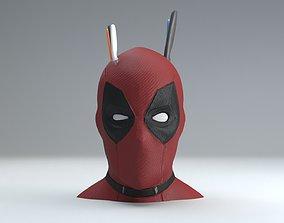 3D printable model deadpool head knifes support