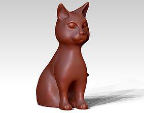 3D print model printable sitting cat statue