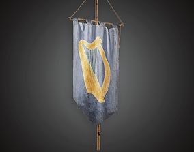 Banner Flag - MVL - PBR Game Ready 3D model