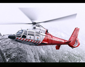 Eurocopter AS-365 Air Ambulace 3D animated