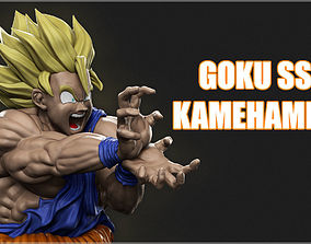 cartoon Goku 3D model