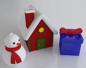 3D printable model Christmas tree decors pack
