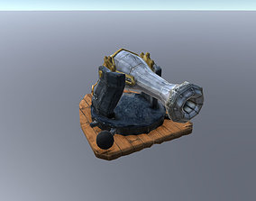 Small Medieval Cannon 3D model
