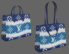 3D model Louis Vuitton Bag Onthego Giant Monogram Blue
