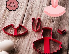 3D print model Ballerina Dress Cookie and Fondant Cutter