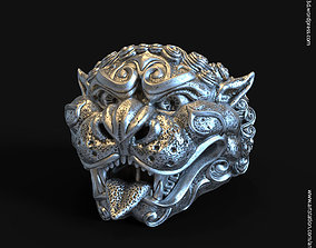 guardian lion vol1 ring jewelry 3D printable model