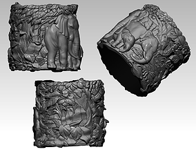 3D printable model Realitic Detailed Safari Jungle 2