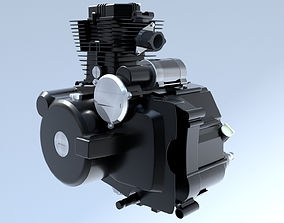 3D Motorcycle Engine CG