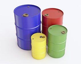 Steel barrel 01 3D