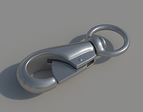 Carabiner with a safety closure 3D model