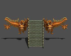 Palace - stone steps 08 3D model