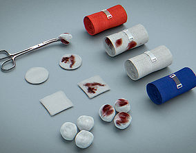 3D model Bandages Gauze and Swabs