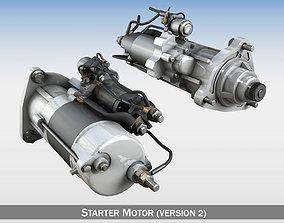 3D electric Starter Motor 02