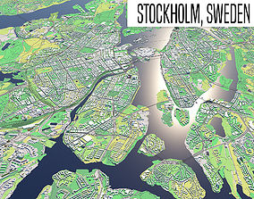 3D model Stockholm country