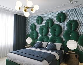 3D model Interior Art Deco Bedroom 01