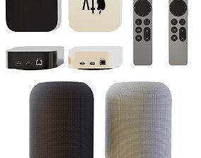 Apple TV 4KHDR Home Pod 3D model
