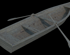 3D river Boat model