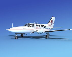 Cessna 414A Chancellor AngelFlight 3D
