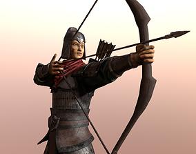 Ancient warriors asia ver 02 3D asset rigged