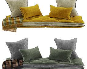3D model Seat pillow set 10