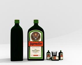 Jagermeister High-poly Bottle 3D model