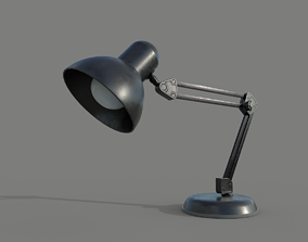 Office TableLamp 3D model low-poly