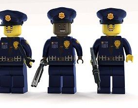 3D model Lego Police Officer pack