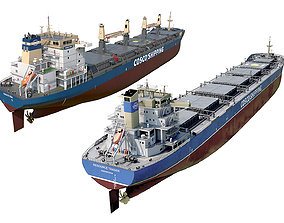 Pack Bulk carrier ships COSCO 3D model