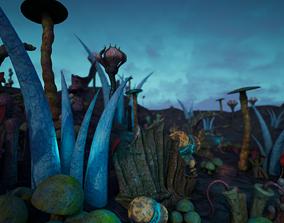 3D Alien Flora Pack
