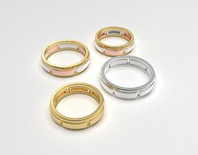 3D printable model Versatile band rings constructor set