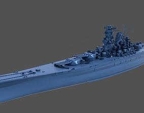 3D printable model BATTLESHIP YAMATO