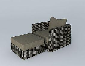 3D model Exterior side set rounded