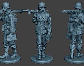 3D print model German soldier ww2 MG42 Walk G7
