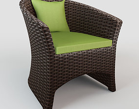 Rattan chair S02 3D model