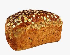 3D asset Loaf Wholemeal Bread