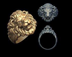 3D printable model Lion head ring custom