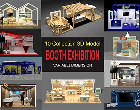 10 collection 3d model booth exhibition