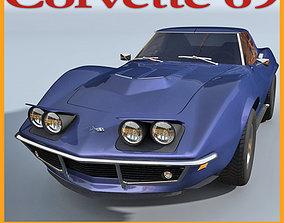 3D model Chevrolet Corvette 69