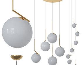 Flos IC Lights set gold 3D model