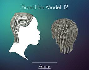 3D printable model Braid Hairstyle 12
