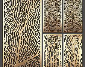 Decorative panel set 40 3D