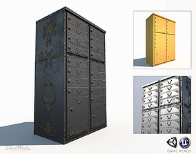 Ornament Mailbox Low Poly Pbr 3D asset