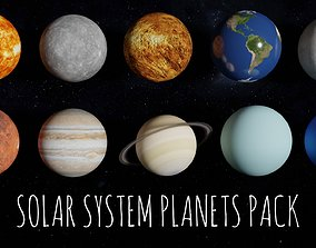 3D 8K Textures Solar System Planets Pack