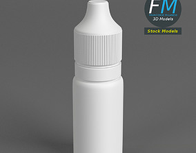 Opaque dropper bottle 2 3D