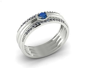 kitchen-challenge ring sapphire 3D printable model