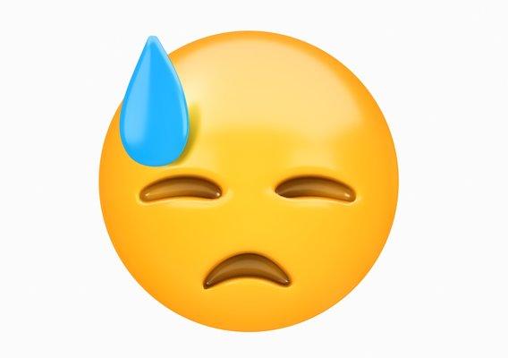 Emoji Face with Medical Mask 3D model